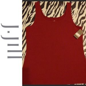 J. Jill Cranberry Tank - New With Tags